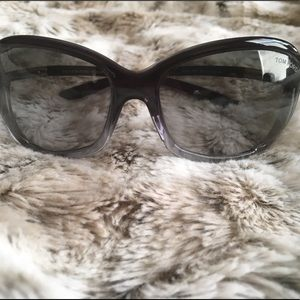 Tom Ford Sunglasses TF8 Jennifer 20B Gray Gradient